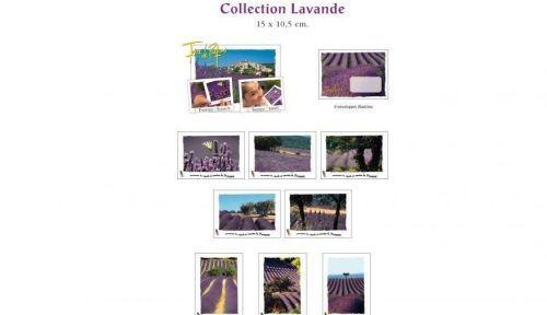 Cartes postales avec incrustations de capsules de parfum