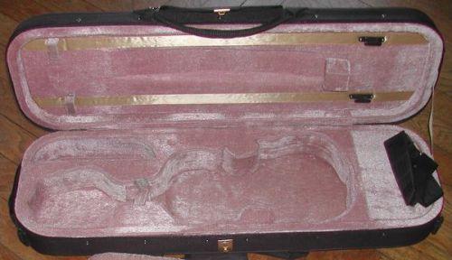 Etui pour violon neuf 4/4, bandouillère emplacements pour 2 archets