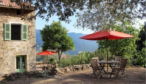 Location Maison en pierre, intérieur de la Corse du Sud - 8 personnes
