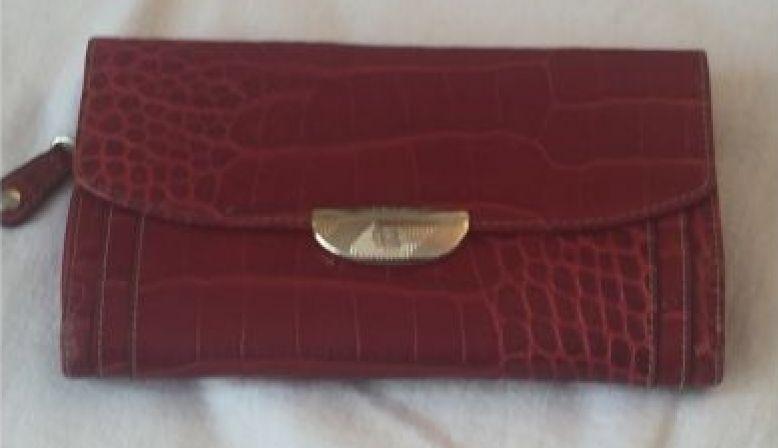 Portefeuille LANCEL modèle Adjani rouge
