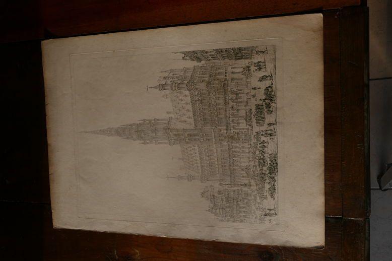 BELGIQUE-BRUXELLES/BRUSSELS-John CONEY-1829-gravure (Moon,Boys&Graves)