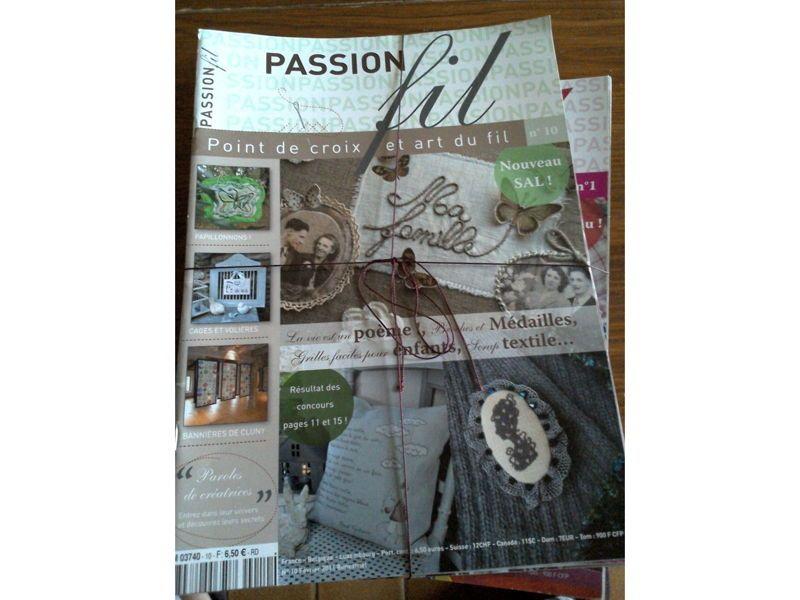 Vends revues Passions Fil et Passion Patchwork