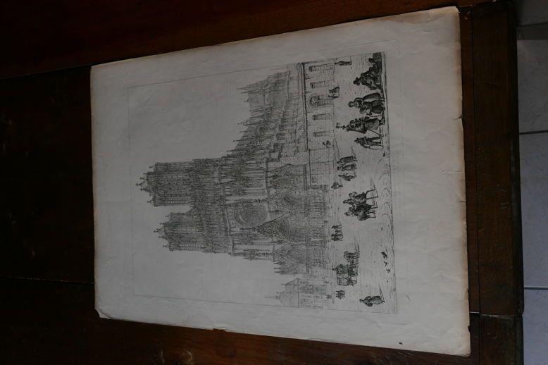 CHAMPAGNE-REIMS-Cathédrale-John CONEY-1830-gravure(Moon,Boys&Graves)