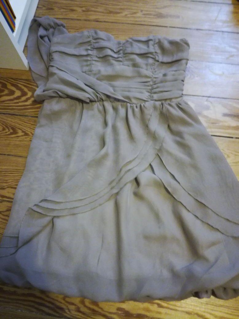 Vends robe de soirée taupe taille S
