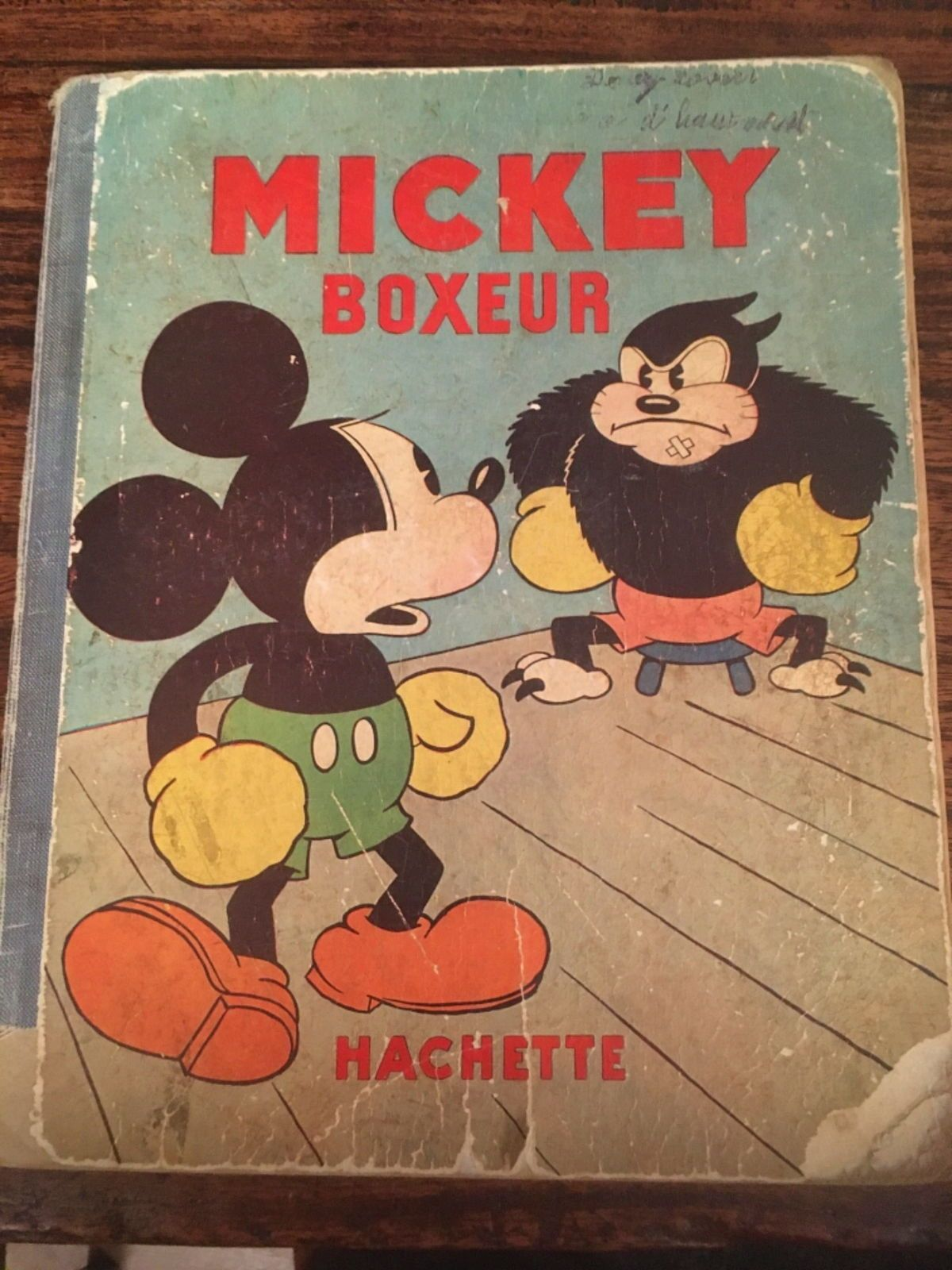 BD ancienne, collector - Mickey boxeur 1932