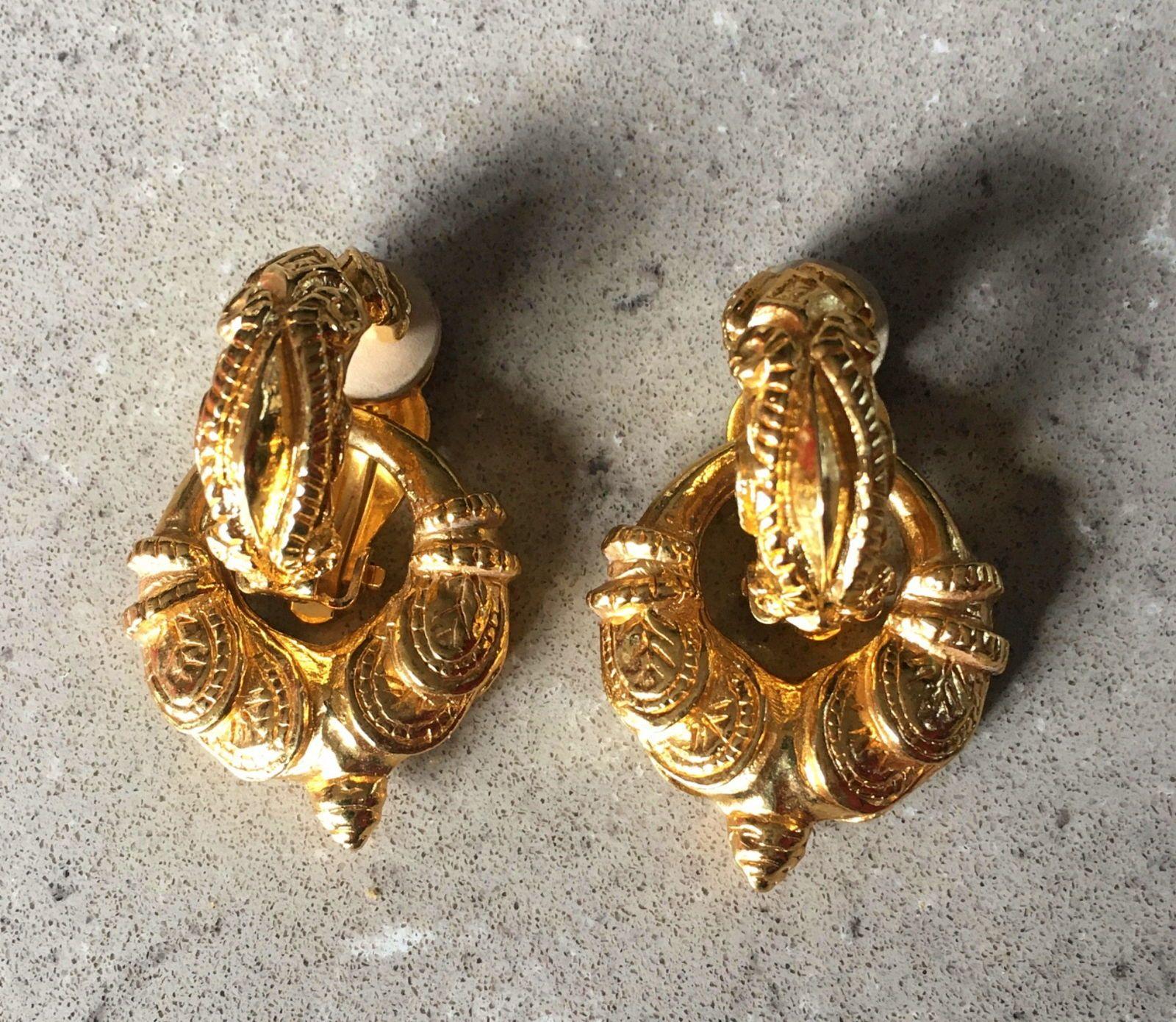 Boucles d'oreilles dorées Agatha semi créoles