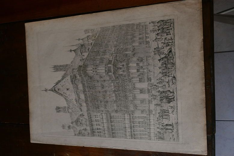BELGIQUE-GAND/GHENT-John CONEY-1831-gravure (Moon,Boys&Graves)