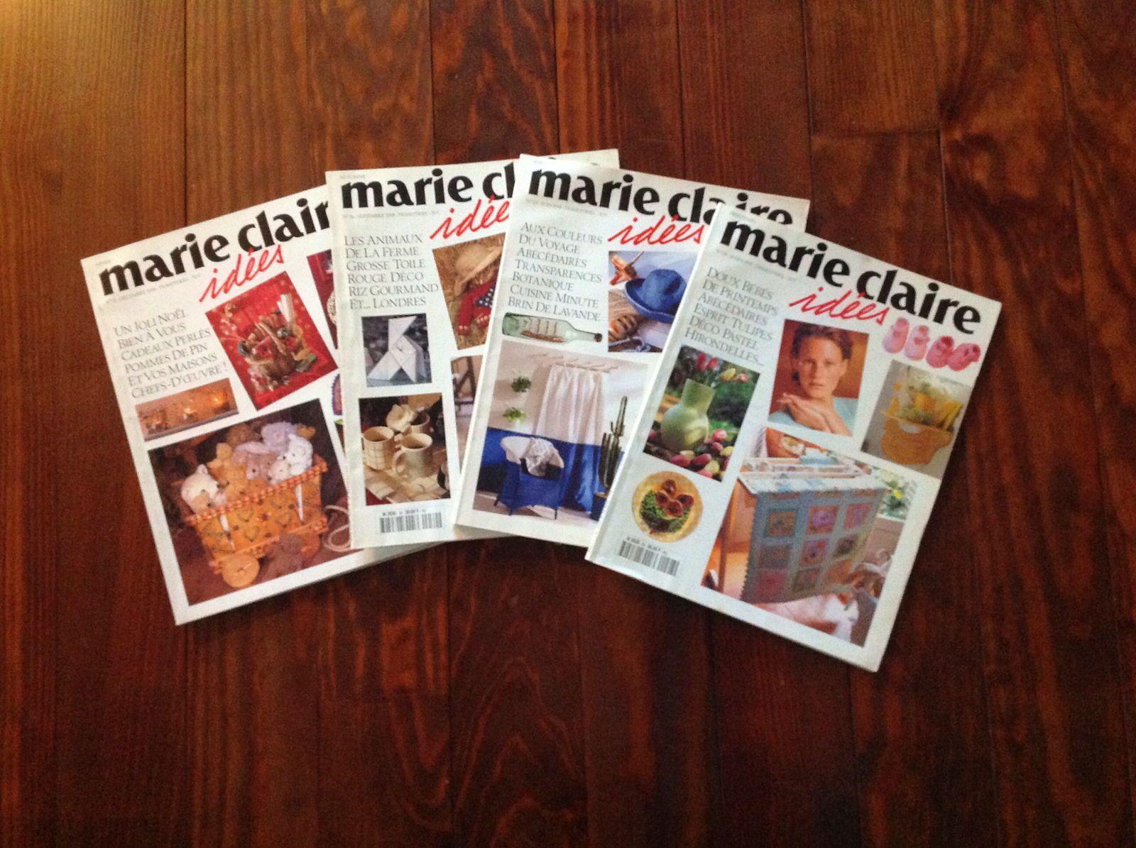 Lots complets de revues Marie-Claire Idées