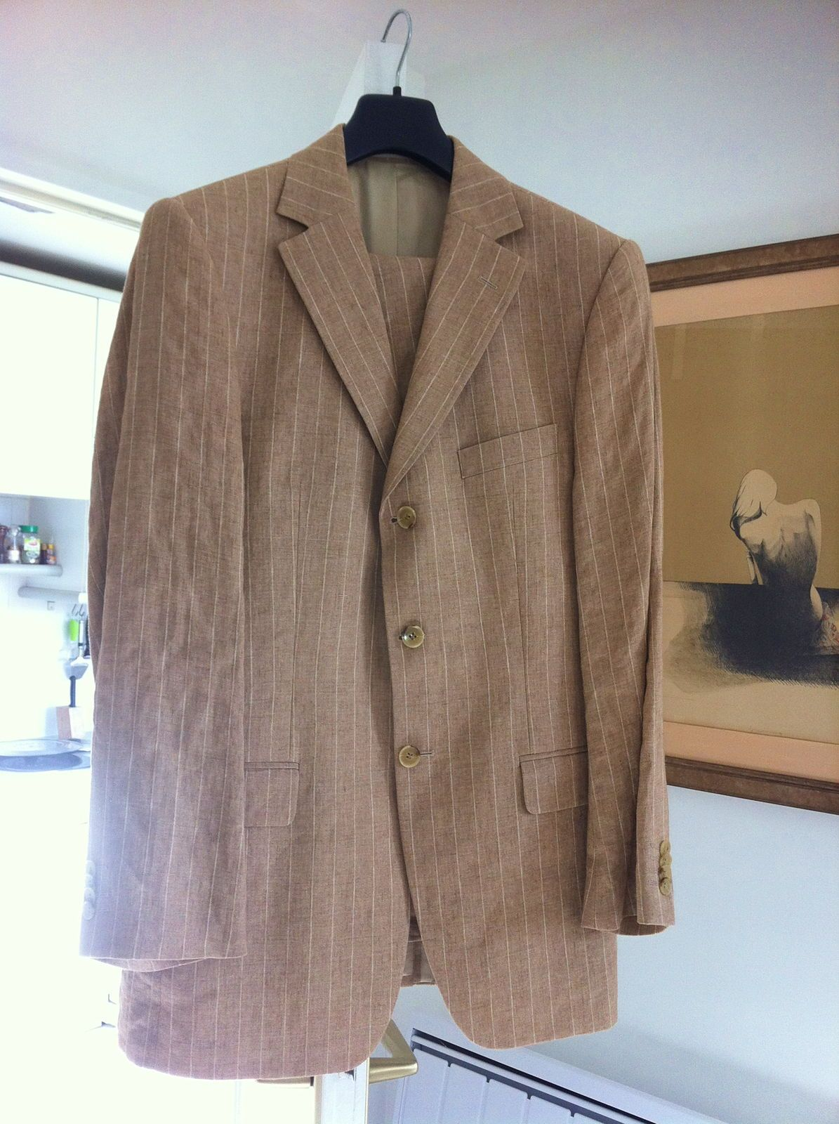 Costume homme 100% lin Daniel Hechter, taille L