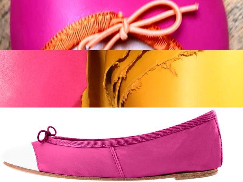 Vends ballerines confectionnées à vos couleurs en cuir