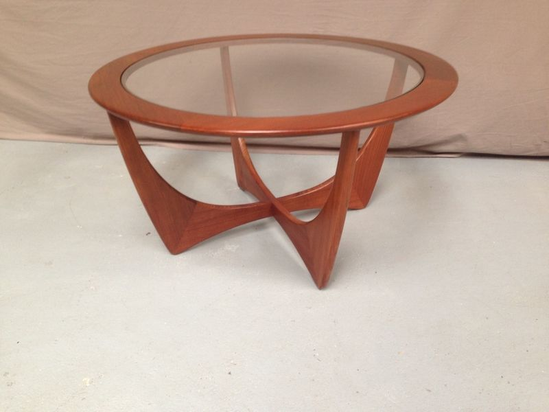 Vends table basse vintage ronde