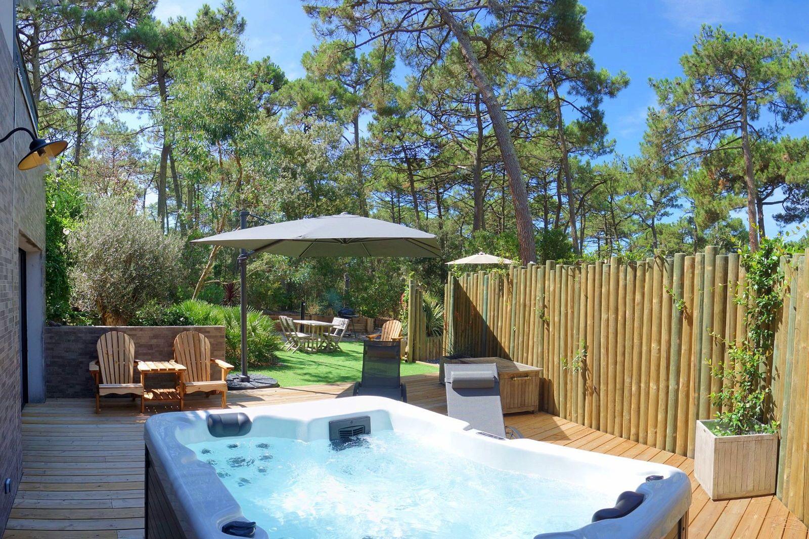 Loue gîte 4étoiles Arcachon (33) spa, forêt et océan - 1chambre 2/4couchages