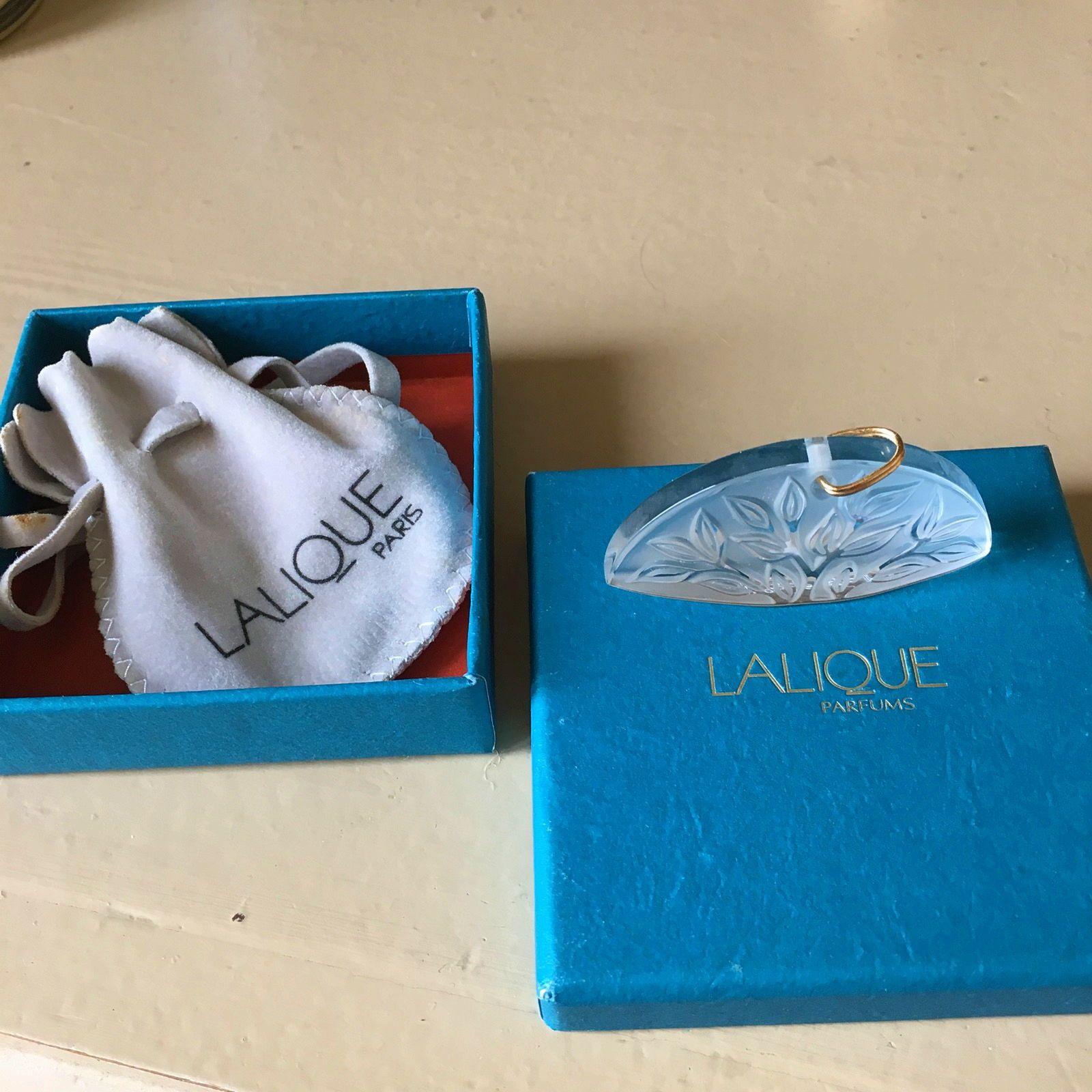 Vends pendentif Lalique cristal