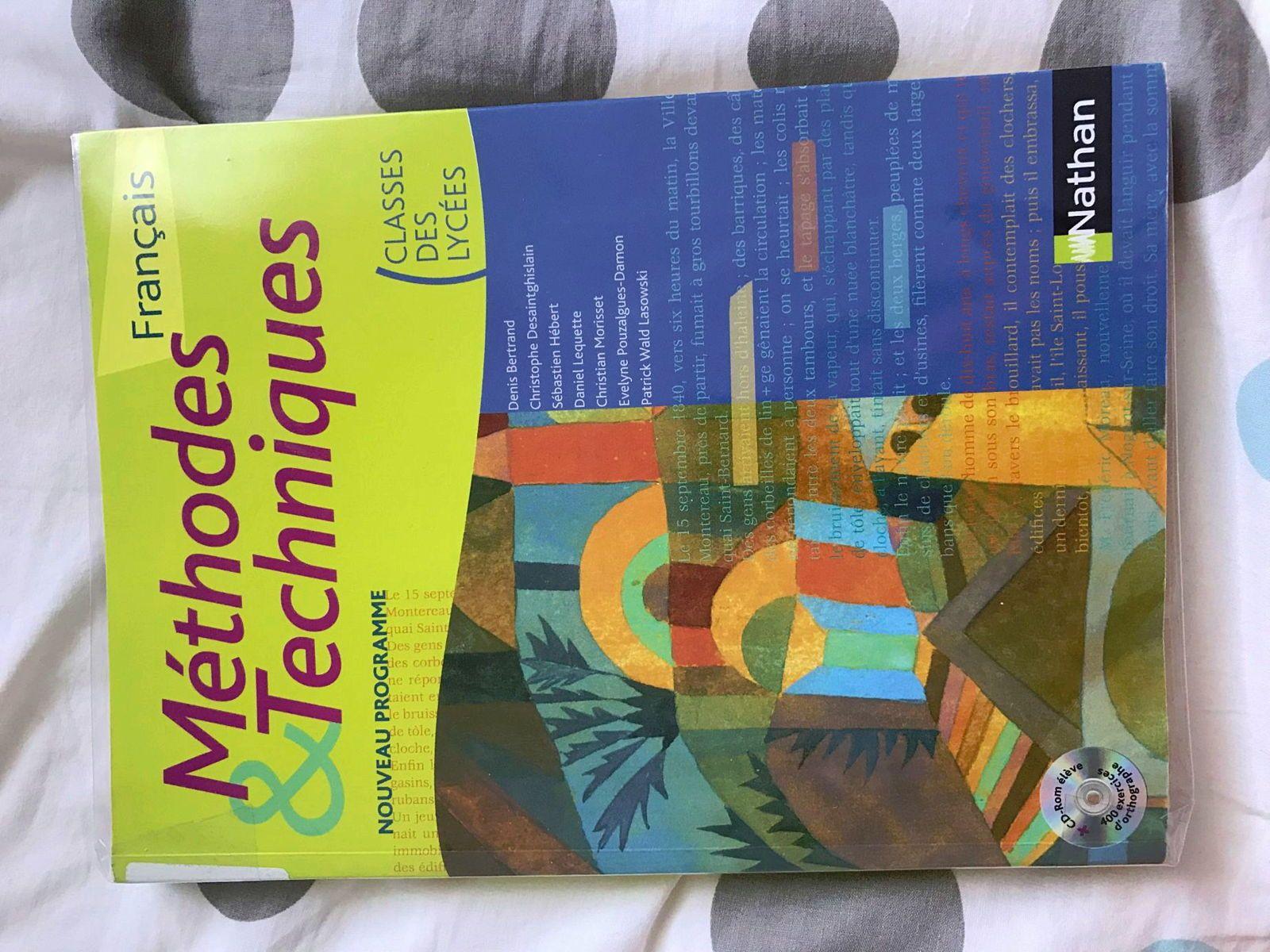 Livre Français NATHAN - Méthodes & Techniques - Édition 2011