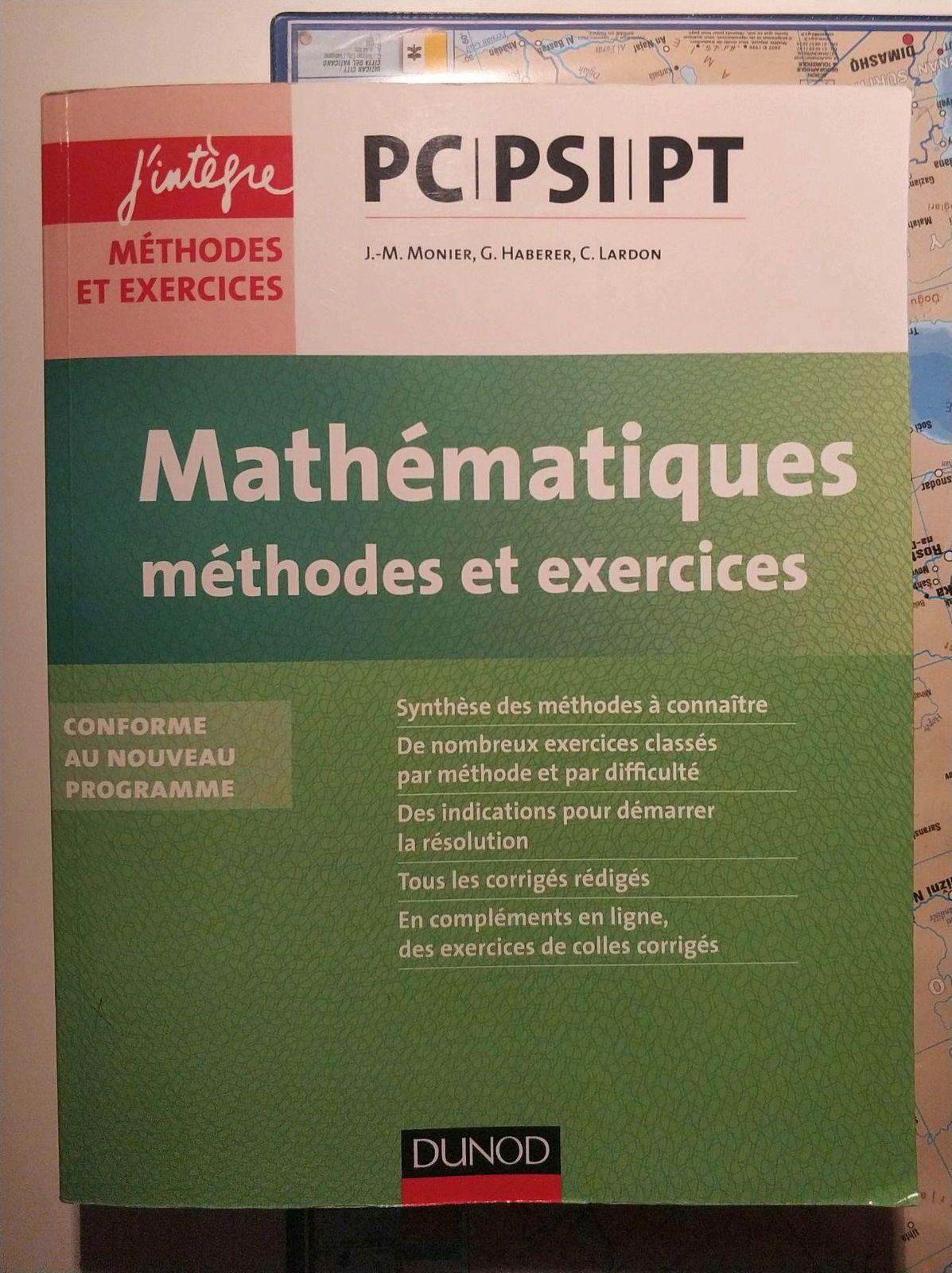 Livre de mathématiques prépa PC PSI PT annales