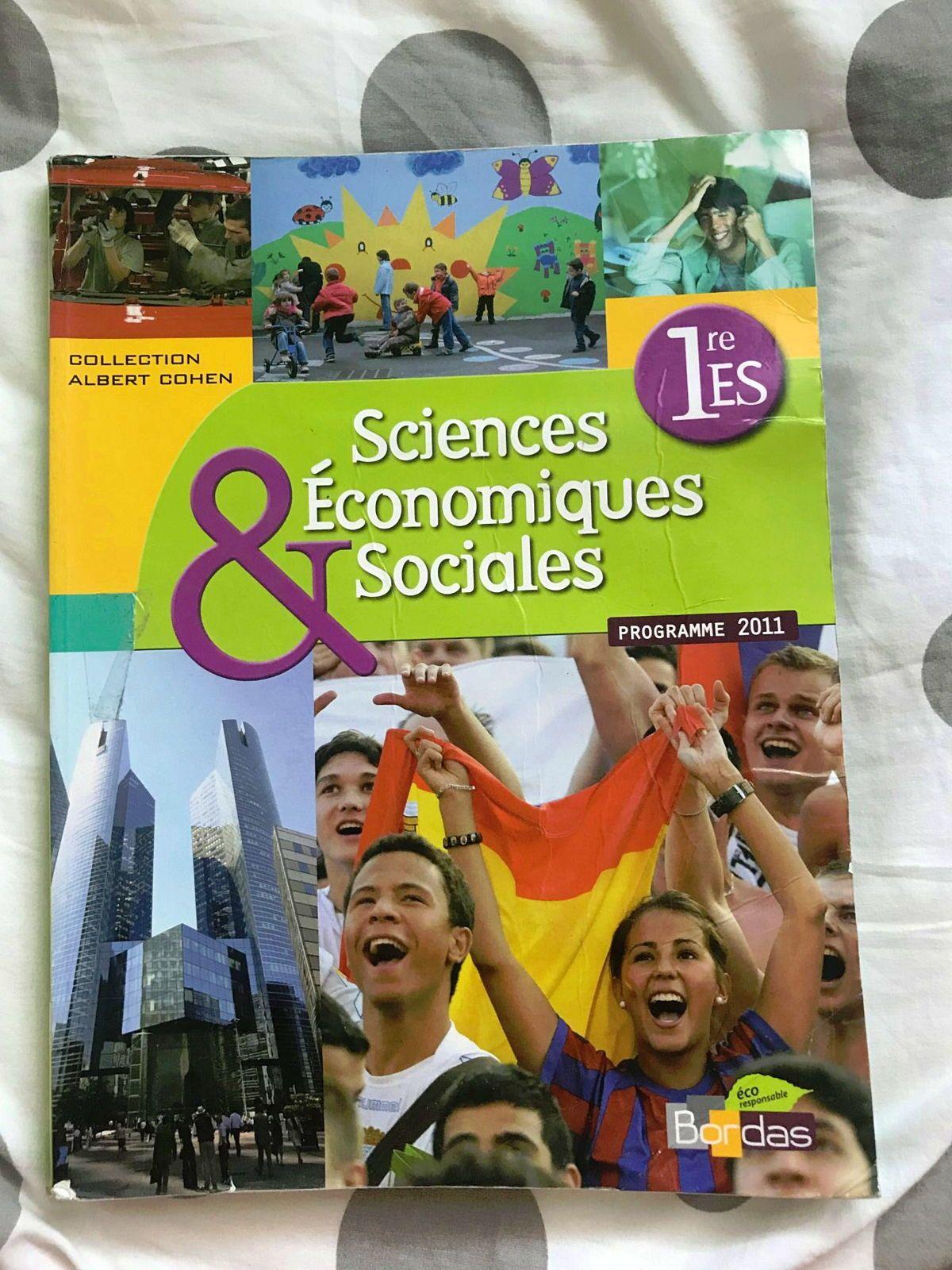 Livre Sciences économiques et sociales 1re ES