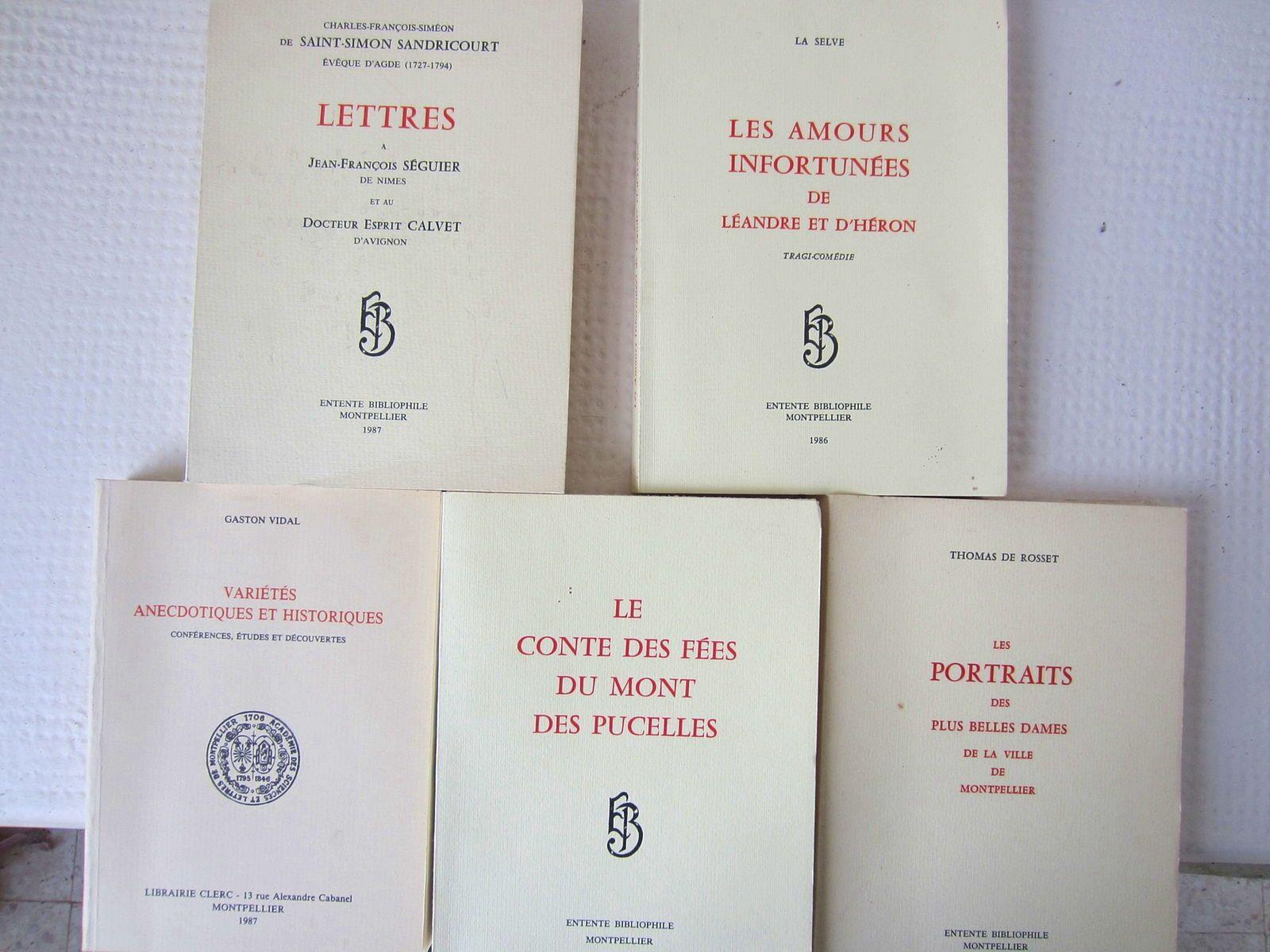 Le conte des fées du Mont des pucelles,et autres livres de bibliophile