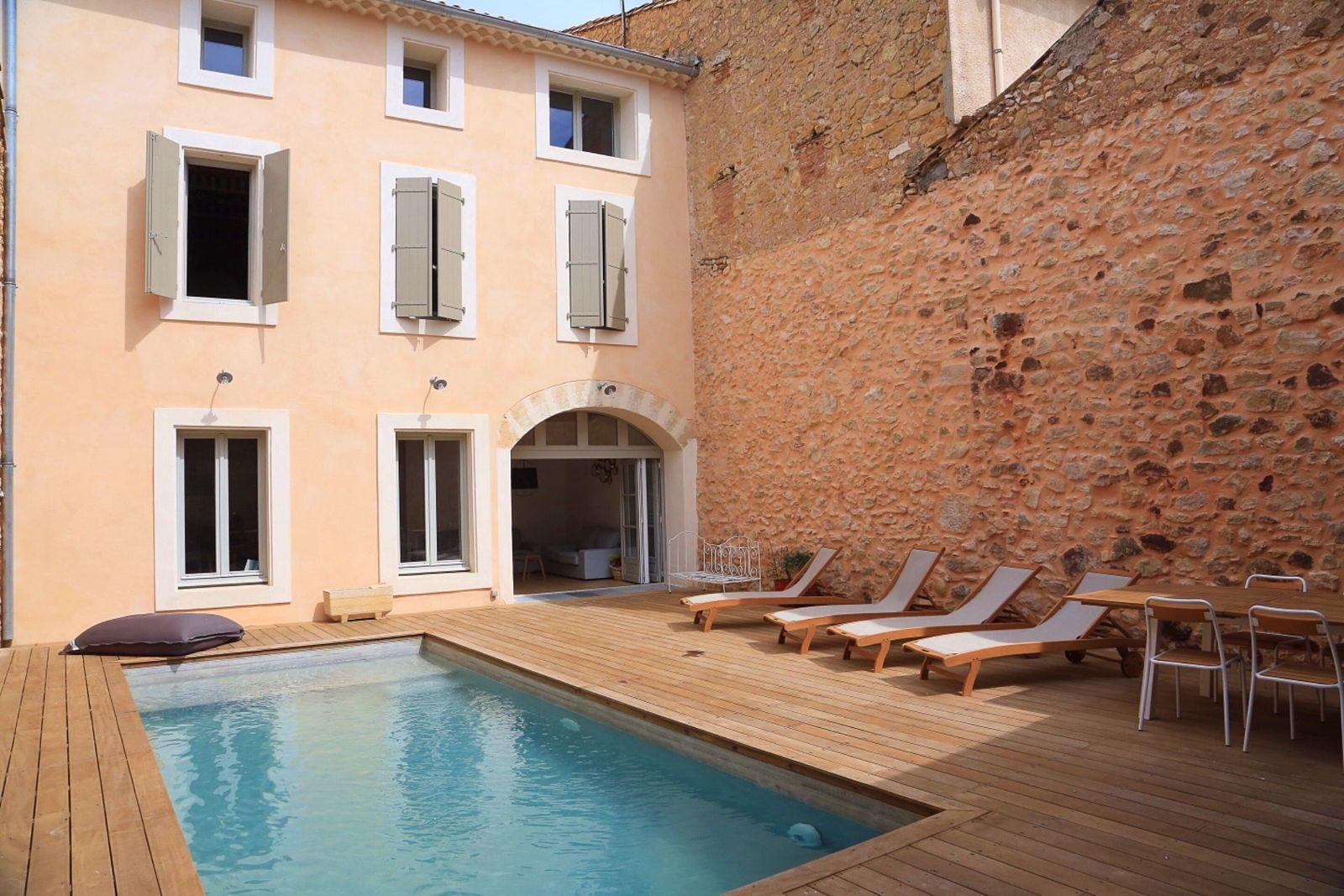 Loue maison de village avec piscine dans l'Hérault - 6chambres 12couchages