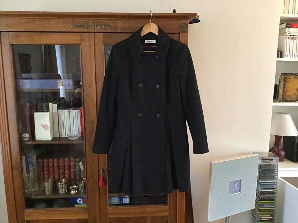 Vends manteau noir Naf-Naf taille 40, en TBE