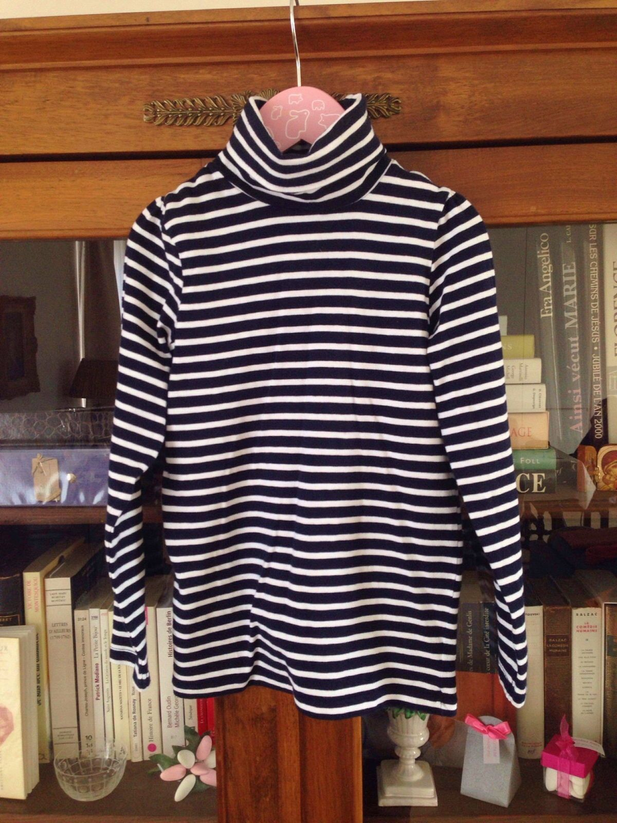 Mariniere à col roulé Jacadi 8ans, neuve sans étiquette