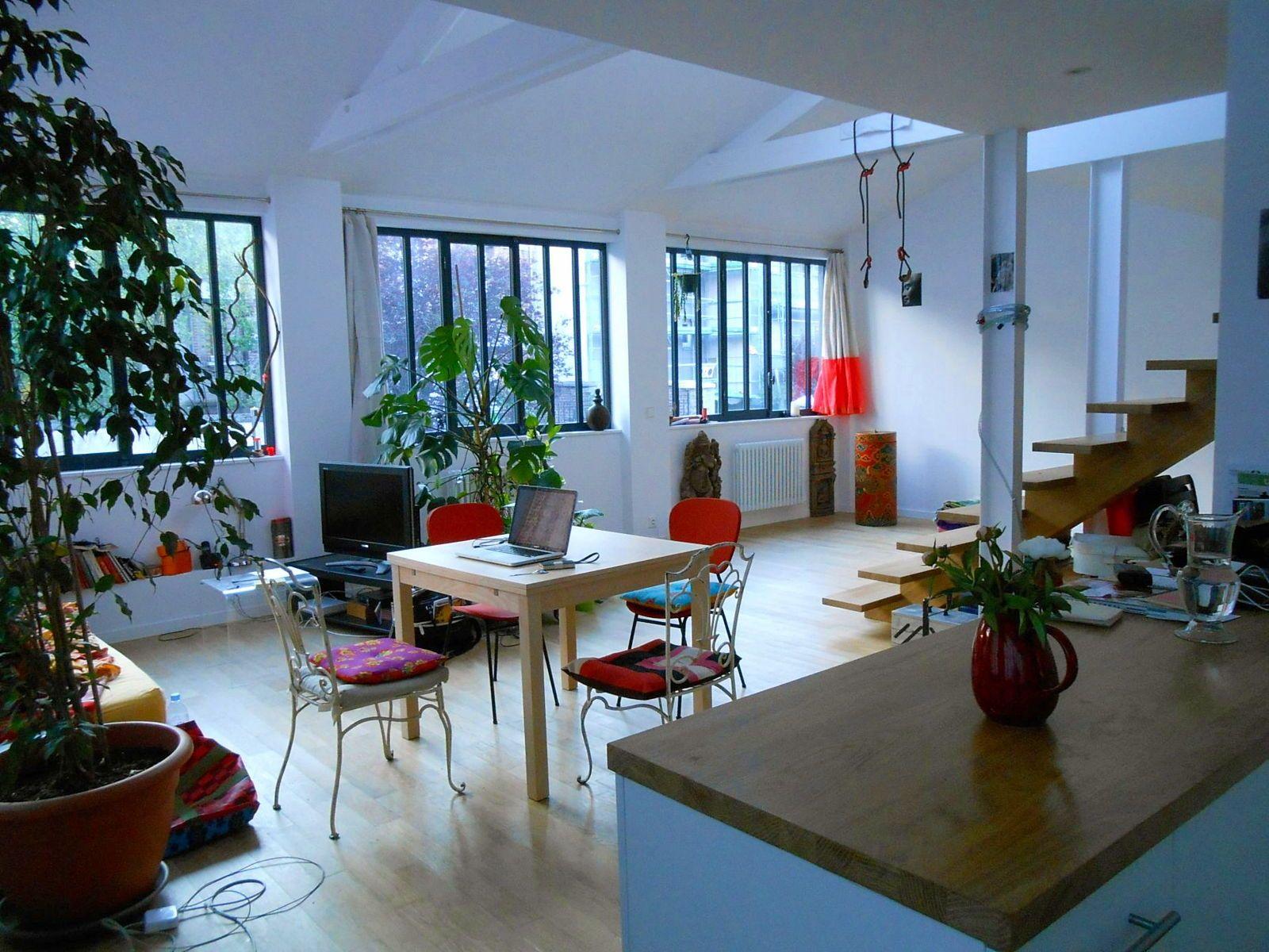 Loue temporairement loft calme et lumineux à Montreuil - 3chambres, 120m²