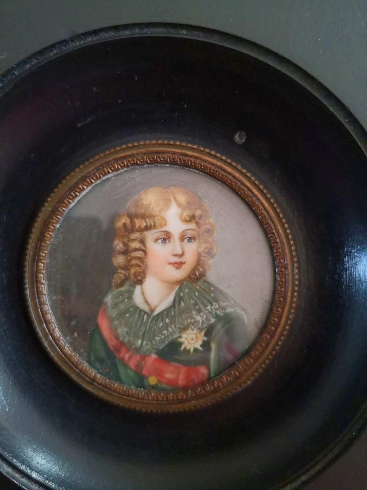 Miniature sur ivoire roi de Rome