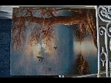 Peinture: Queue d'étang et colverts, très bon état