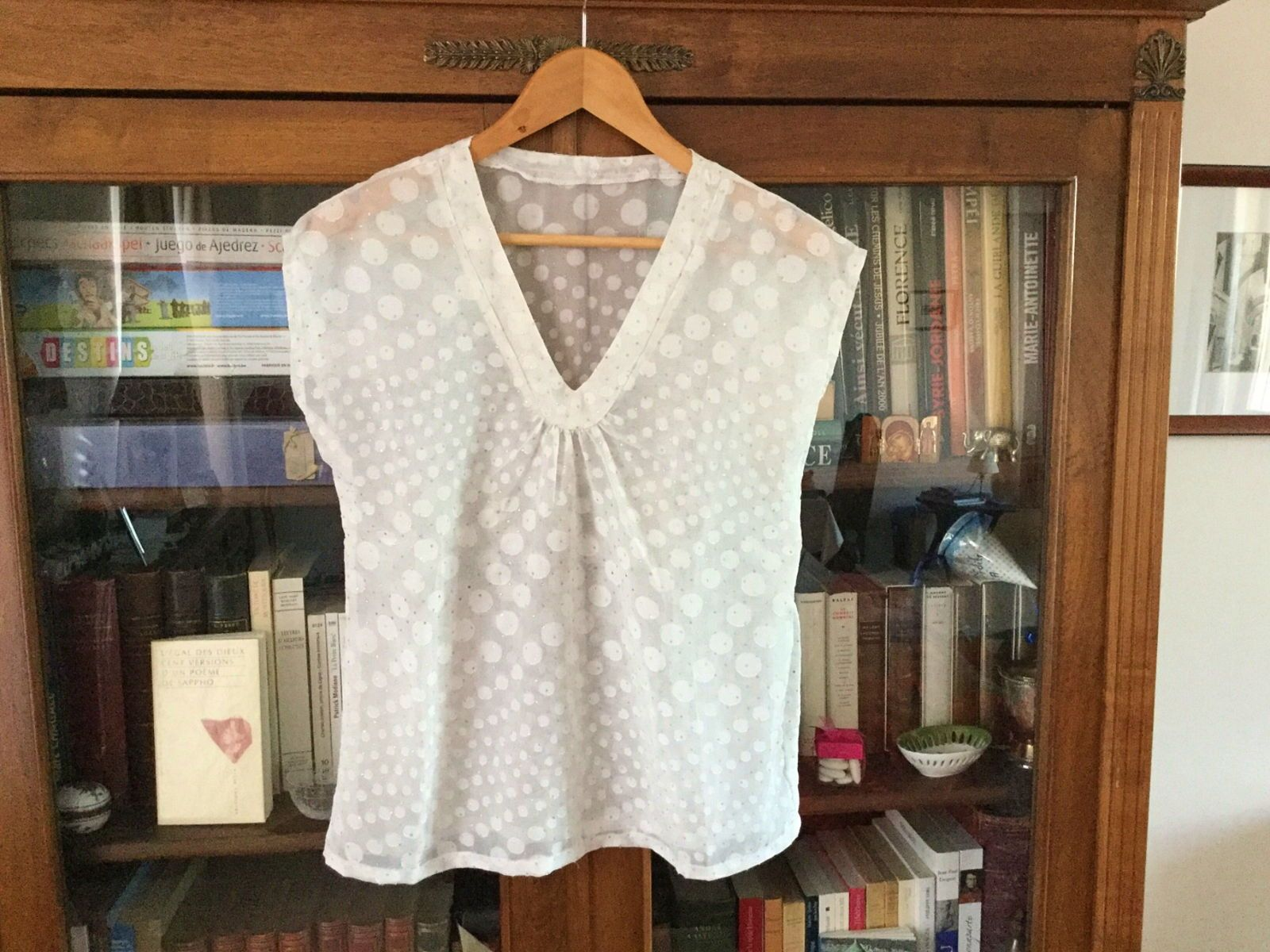 Top plumetis home made taille 40, en TBE