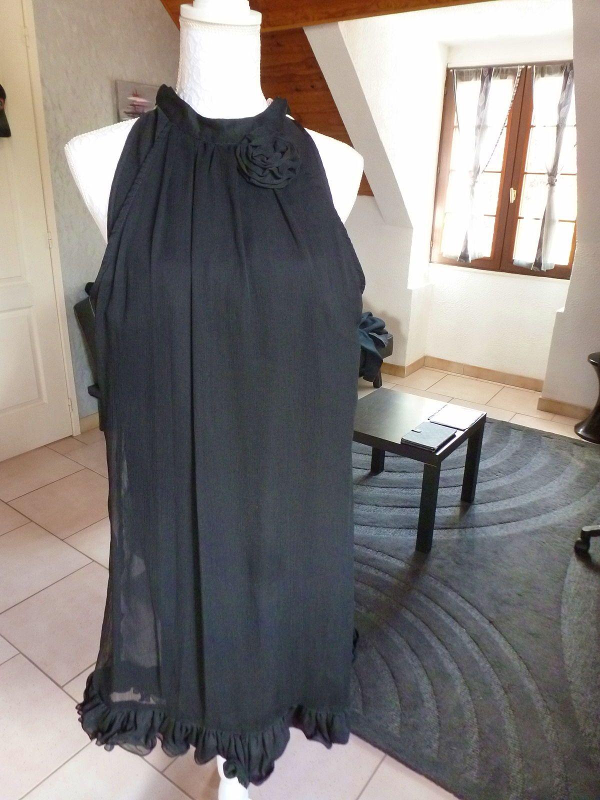 Sublime robe noire en voile taille 36/40