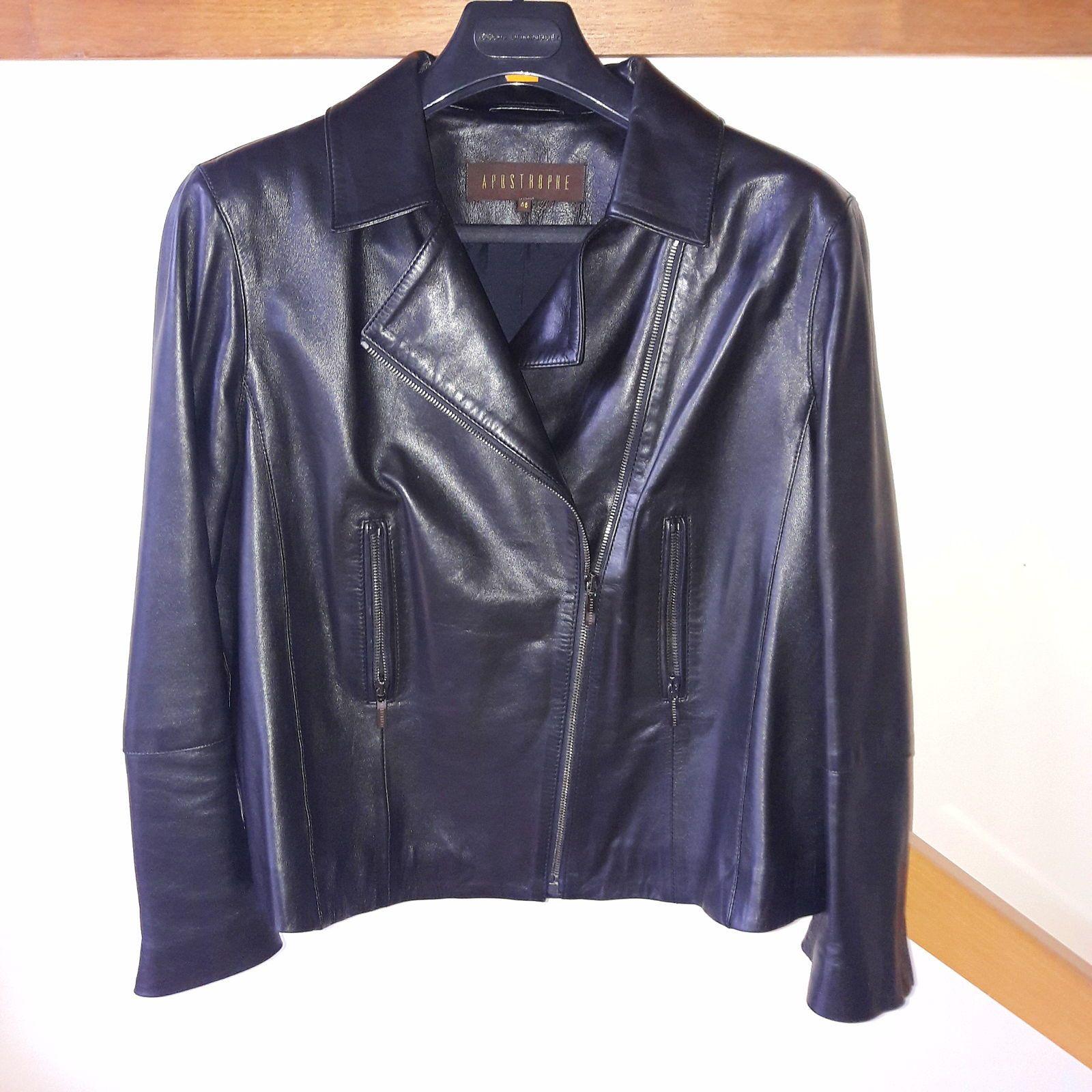 Superbe blouson cuir taille 46jamais porté de marque Apostrophe