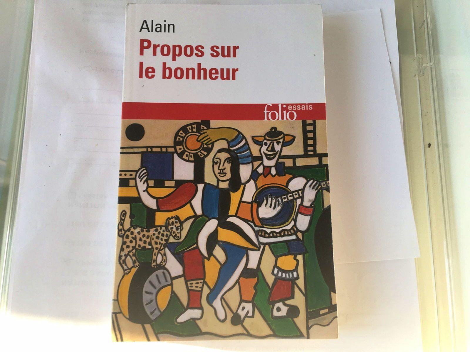 Vends Livre Propos sur le bonheur d'Alain