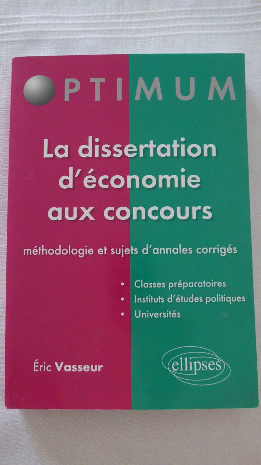 Vends manuel méthodologie dissertation d'économie