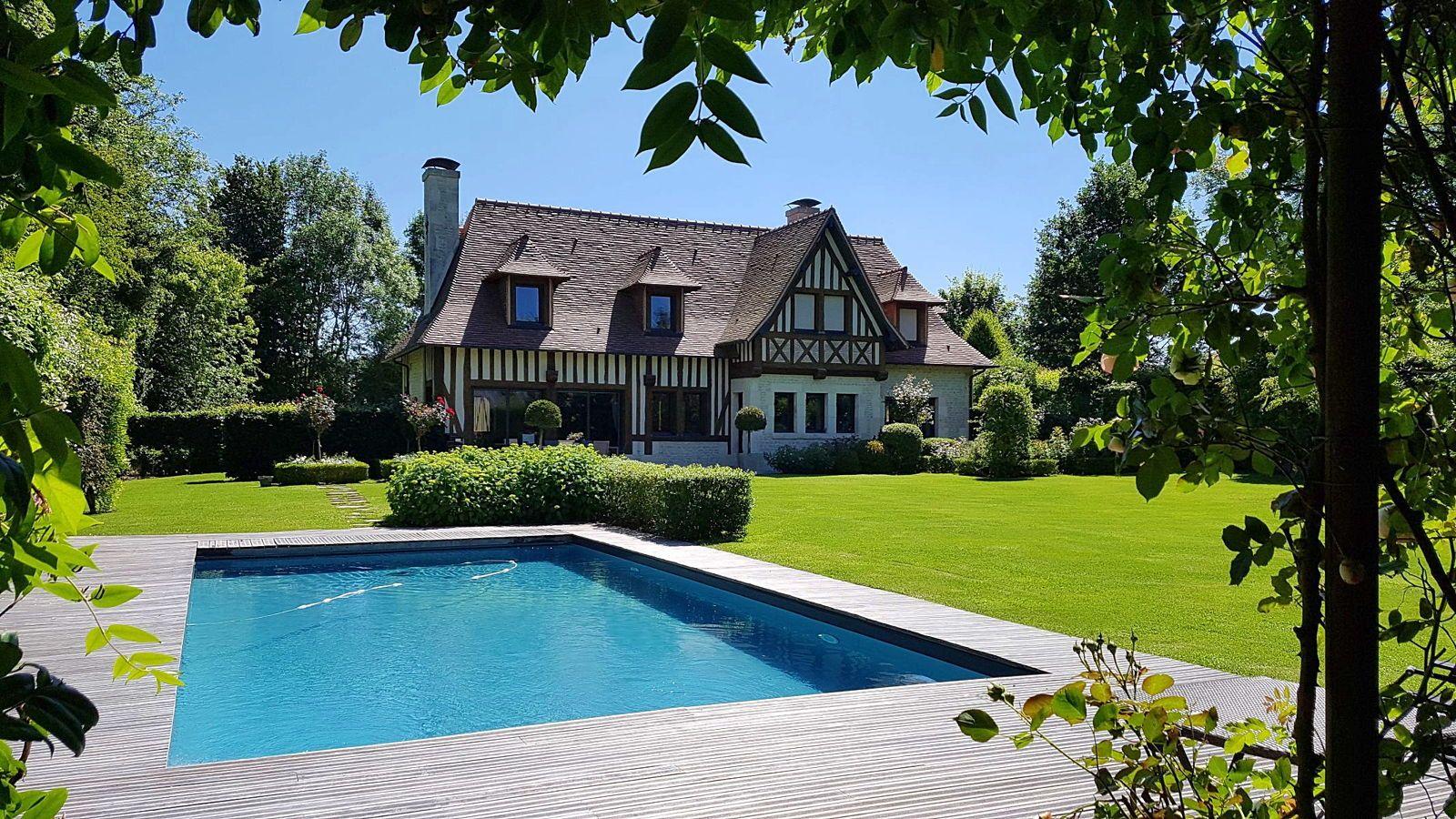 Vends splendide demeure normande, 340m², 4ch, 20mn de Deauville