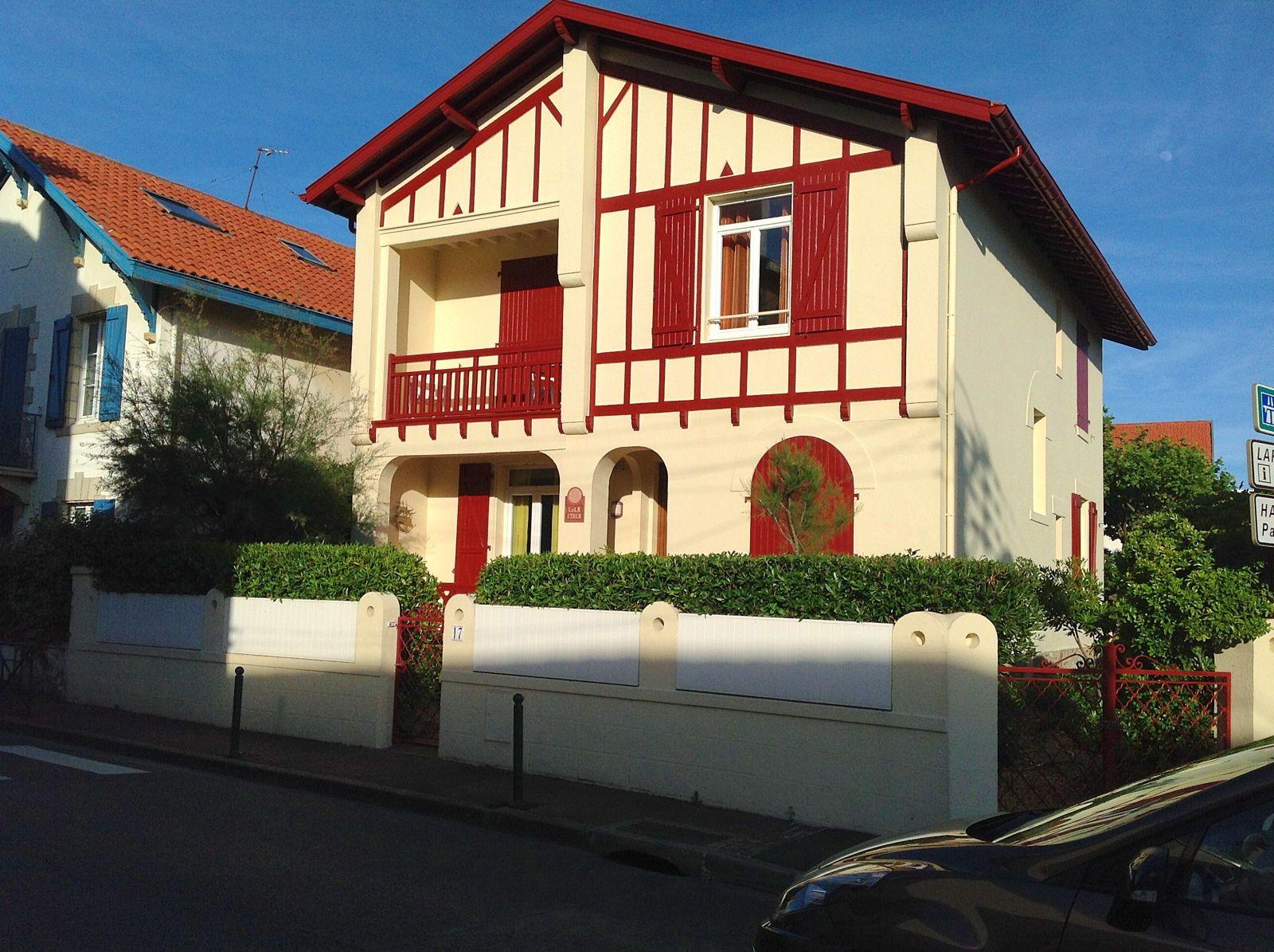 Loue Villa, 4couchages à Biarritz Côte des basques (64)