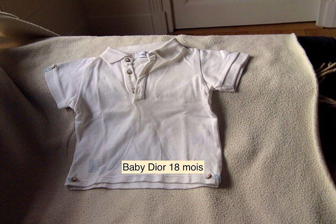 Baby Dior polo taille 18mois