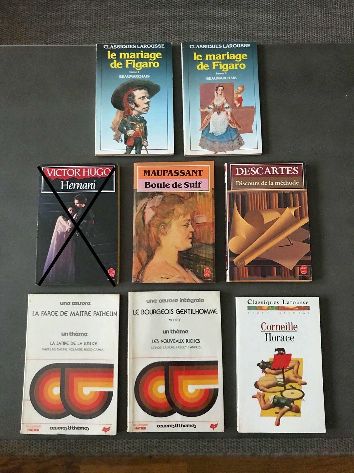 Vends livres classiques de la littérature française