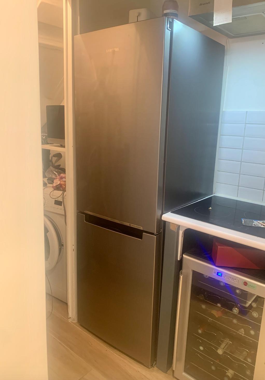 Combiné réfrigérateur congélateur Samsung Silver - Très bon état avec facture