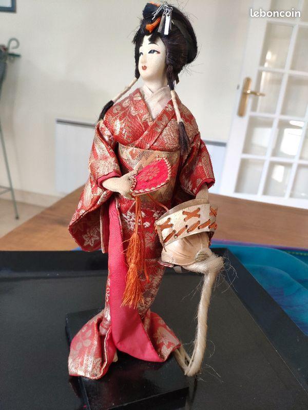 Poupée geisha japonaise vintage