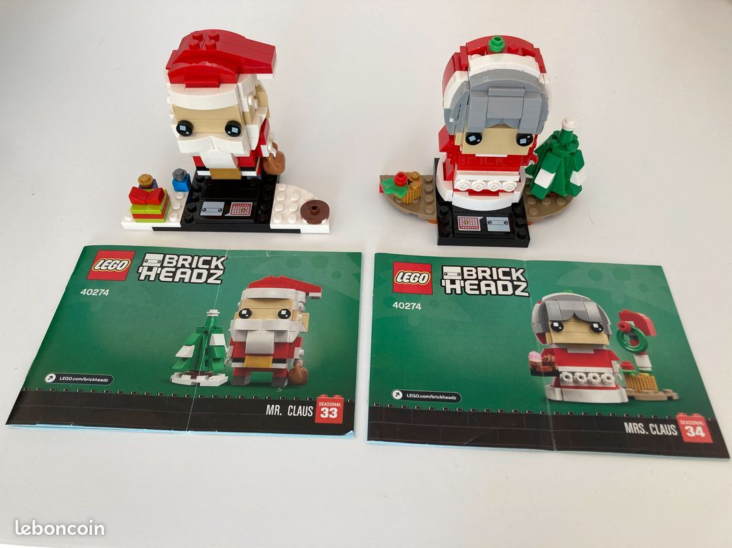 Lego 40274Mr and Mrs Claus Brick Heads