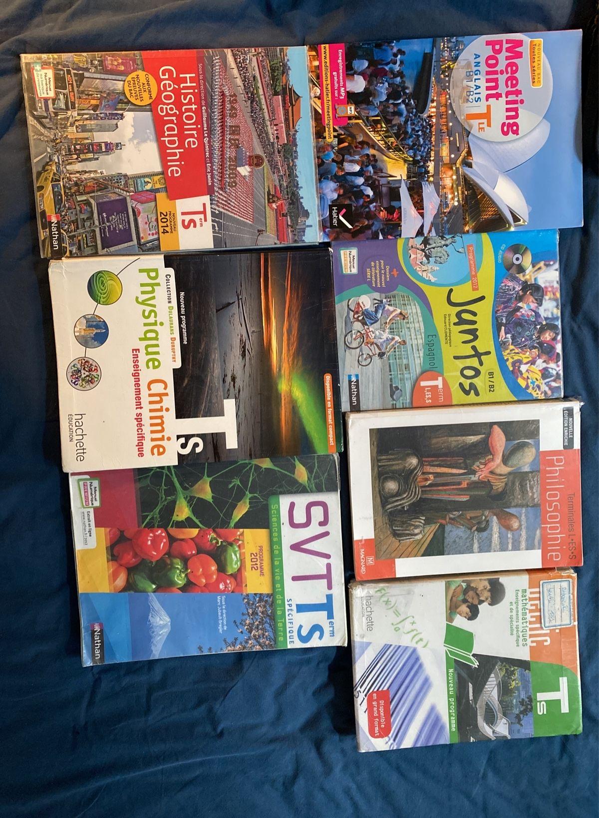 Vends livres ancien programme terminale Scientifique
