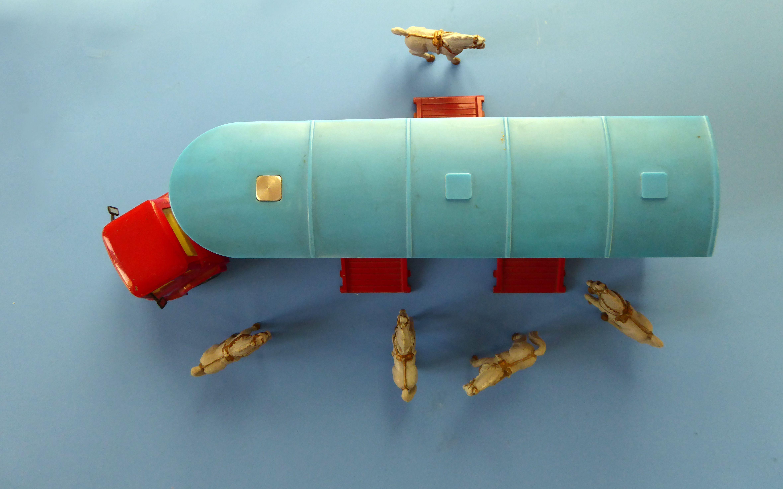 Corgi Toys - Bedford transport de chevaux du cirque Chipperfields