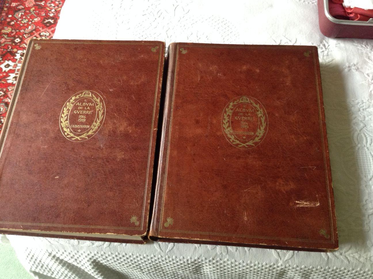 Vends livre titre: L'ALBUM DE LA GUERRE 1914-1919en 2volumes