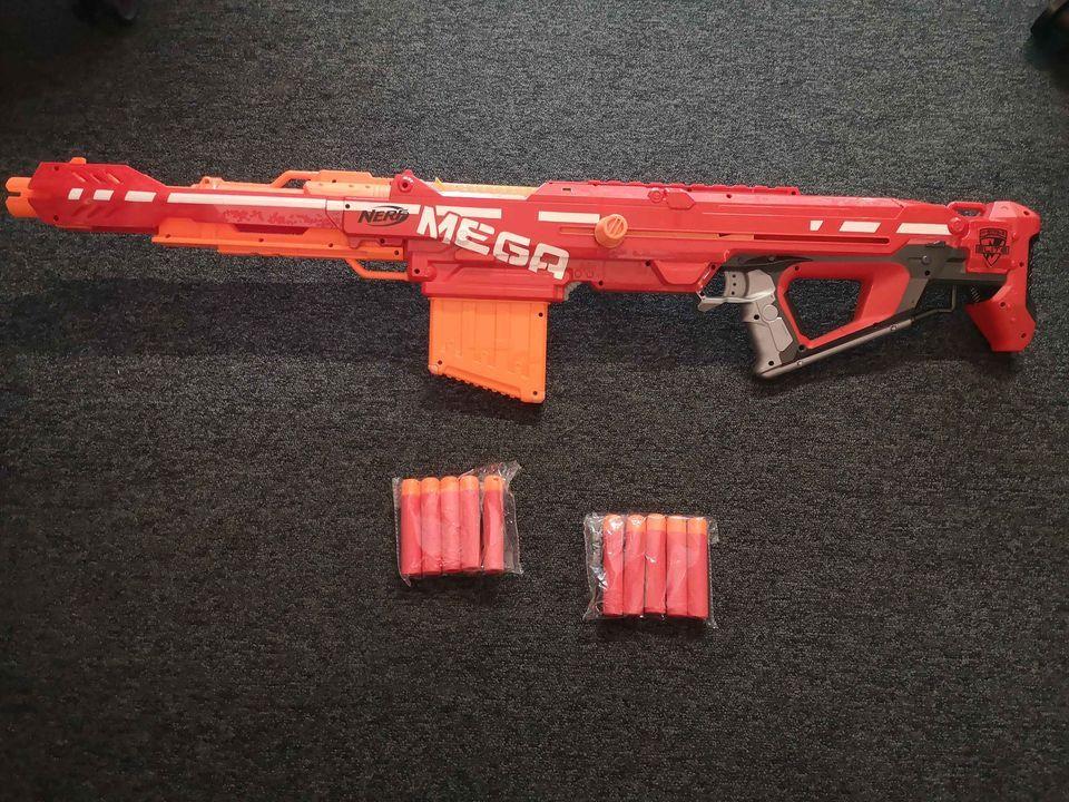 Nerf mega sniper + mini gun