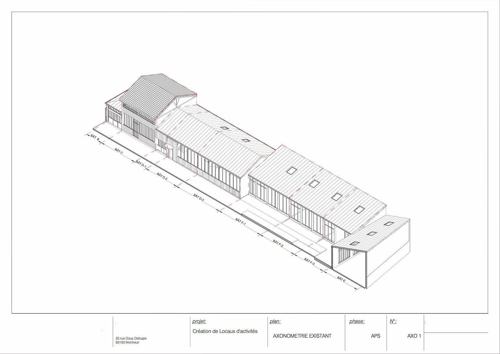 Loue Loft activités/atelier - 186m² -Montreuil - Bâtiment E