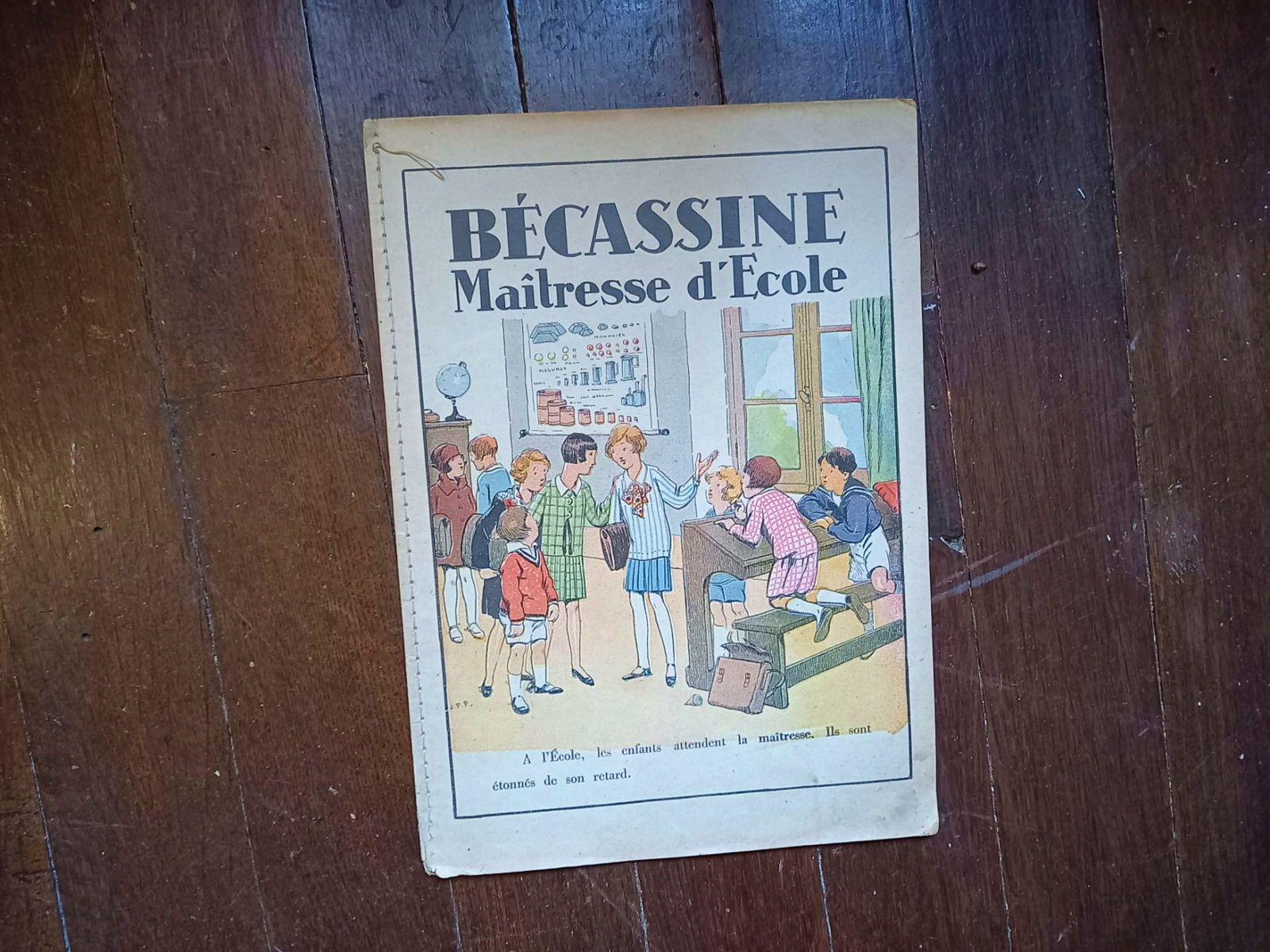 Album ancien Becassine Maitresse d'école Alphabet 1946Bel état