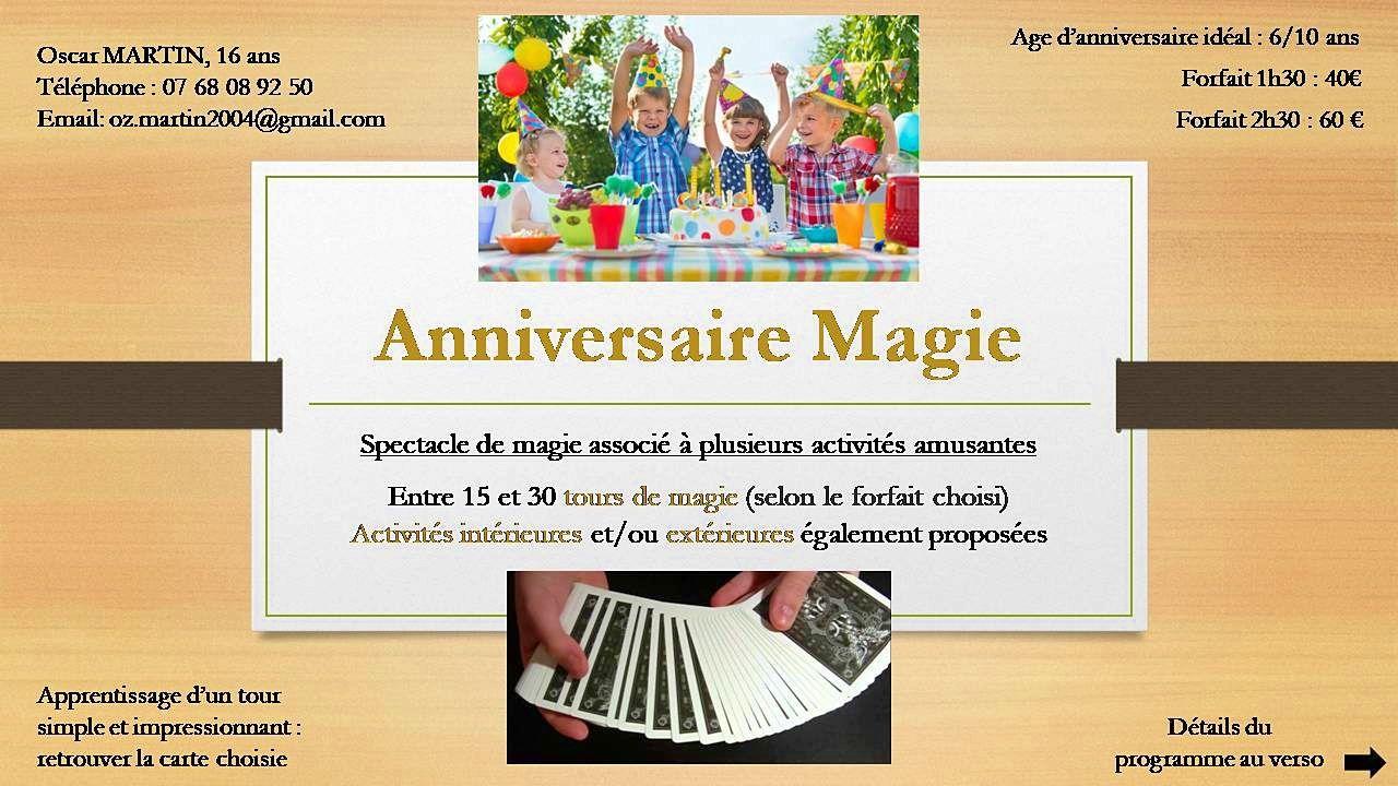 Animation & magie pour l'anniversaire de votre enfant