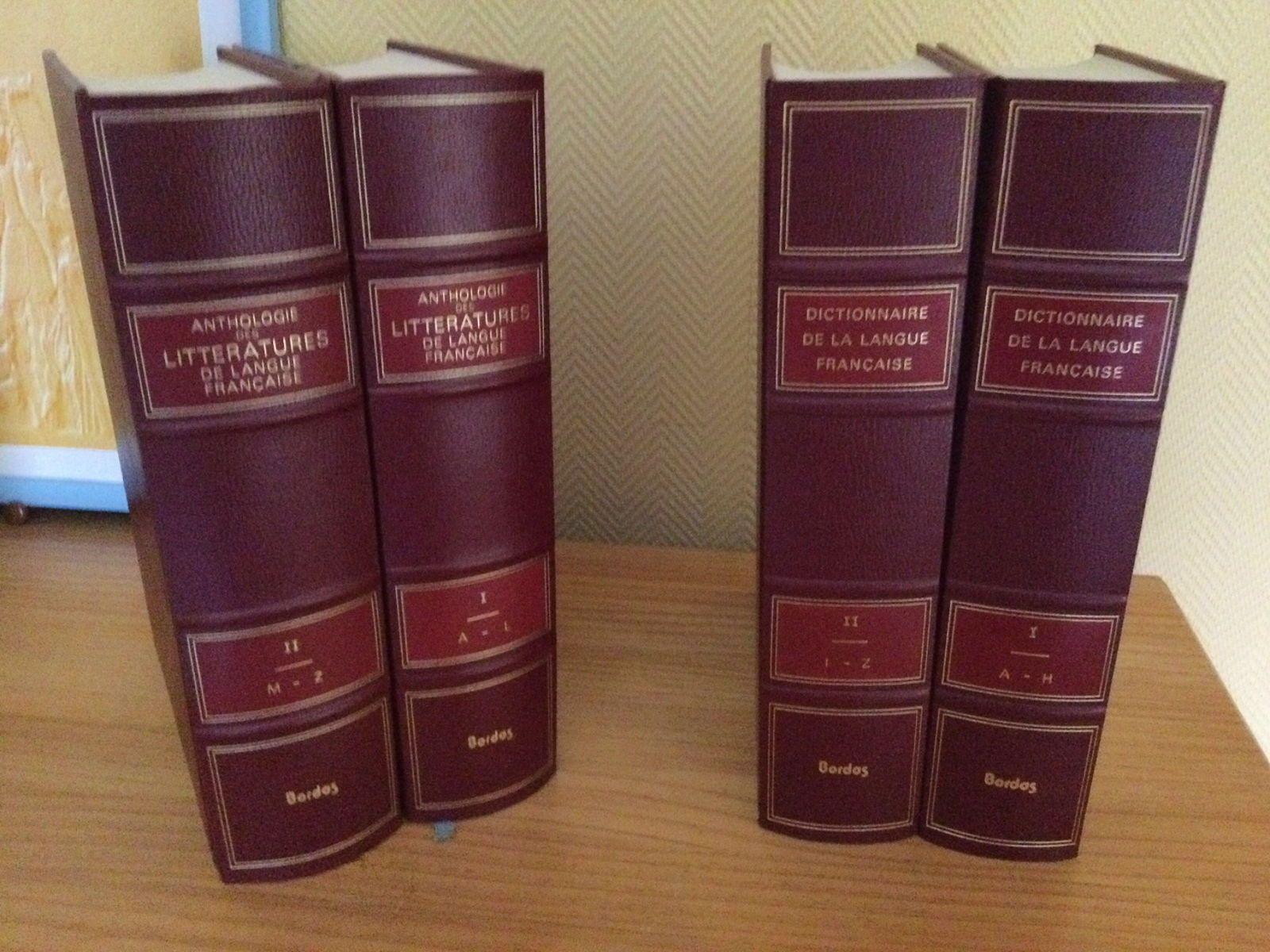 2Anthologies littératures et 2dictionnaires langue française