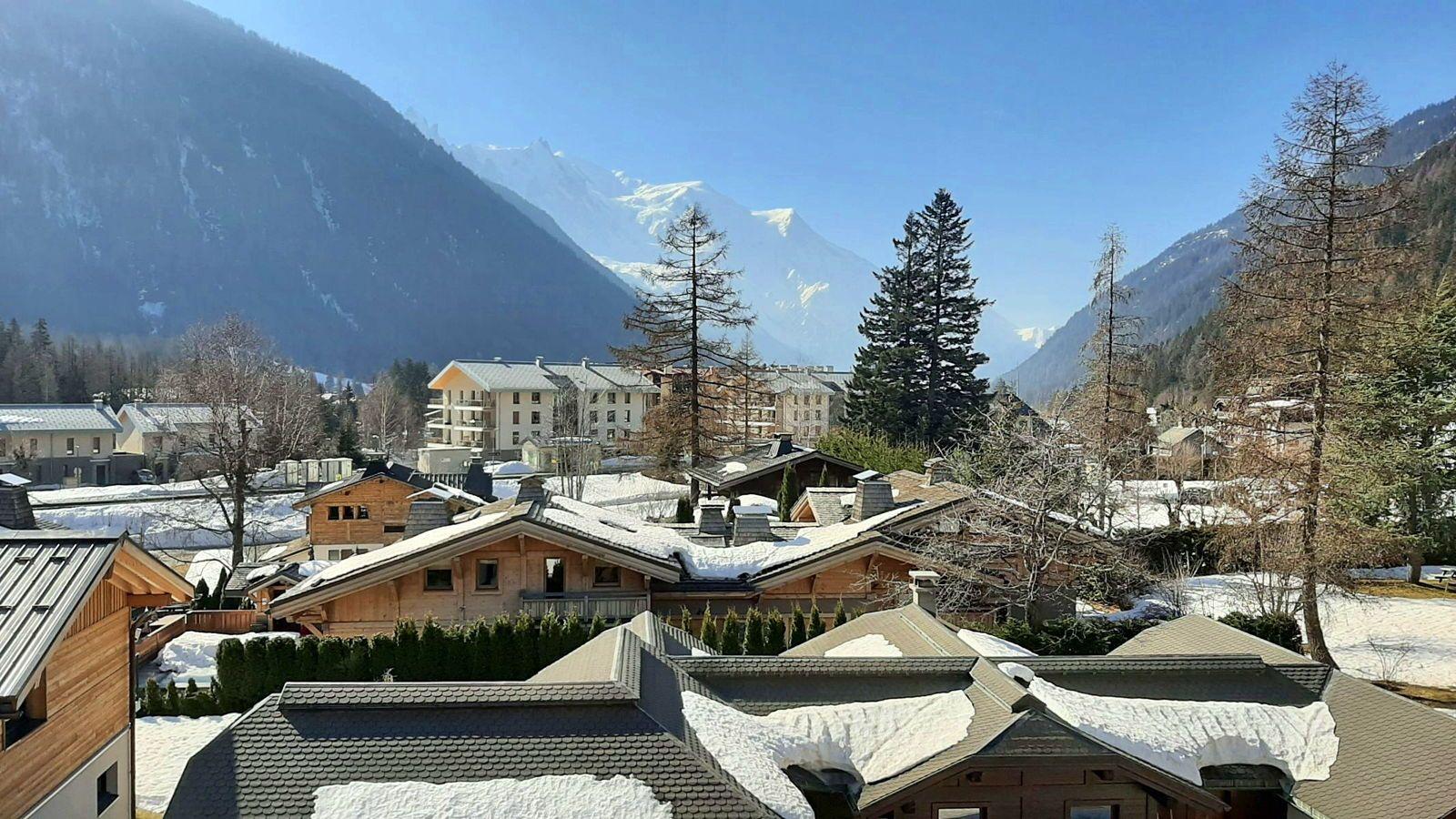 Loue appartement 6couchages à Argentière (74) vallée de Chamonix - vue Mont-Blanc