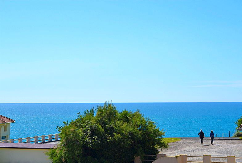 Loue Appartement Biarritz, vue mer et montagne - 1chambre- 4couchages