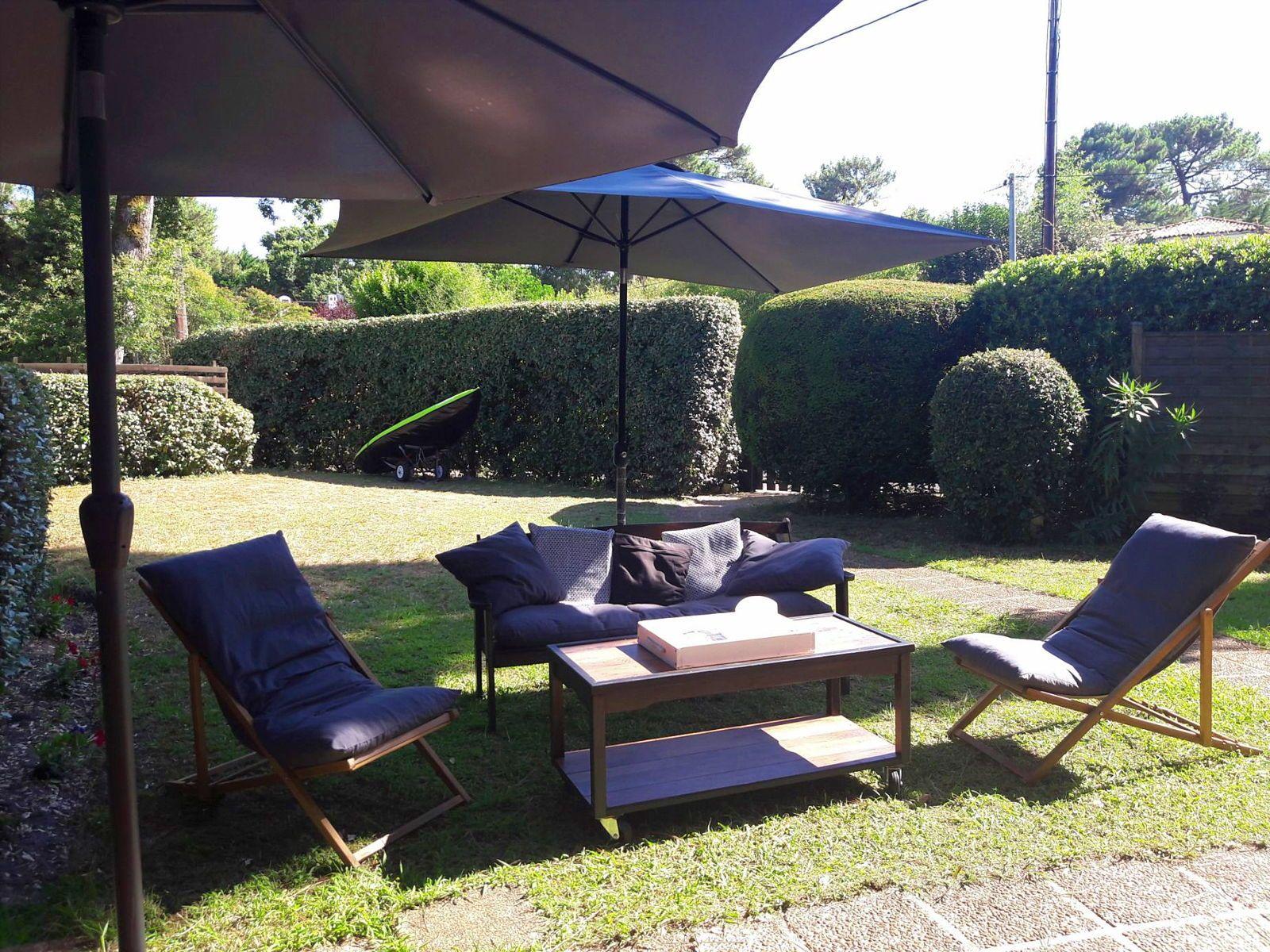 Loue PYLA/MER appartement rez de jardin 5couchages